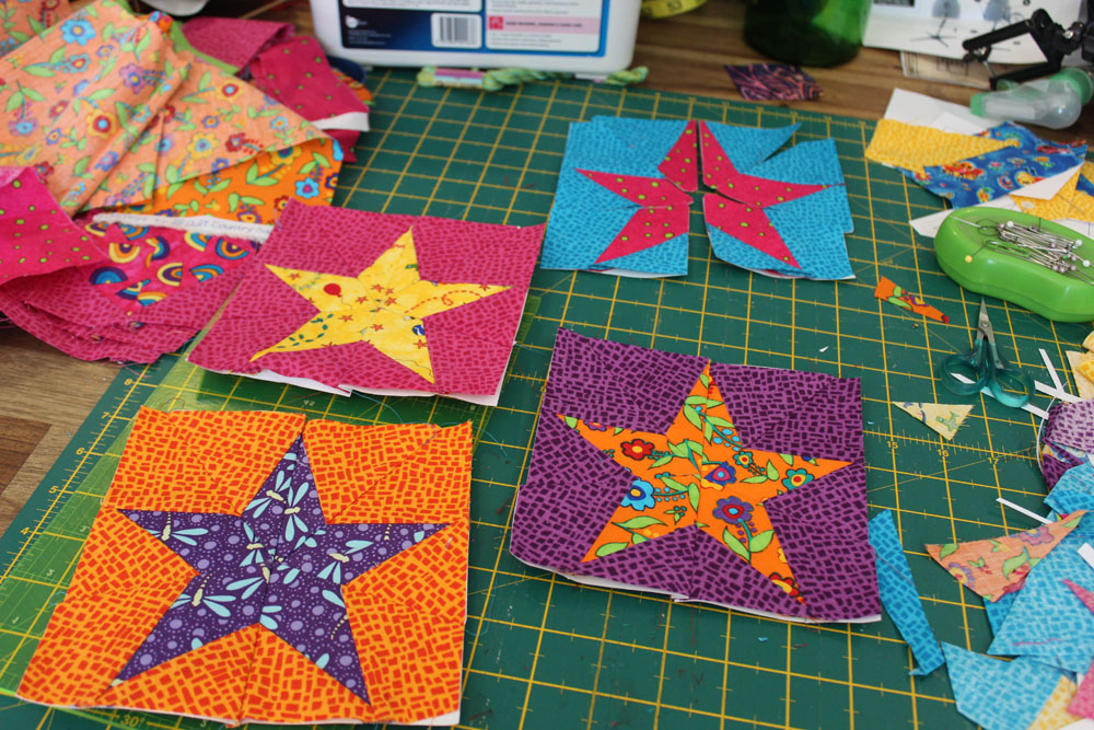 4 foundation paper pieced stars