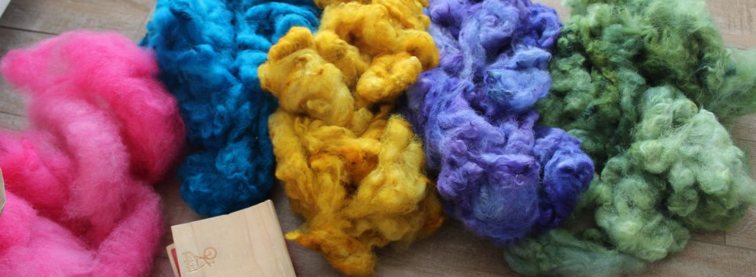 dyed alpaca fibre