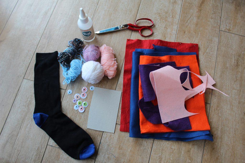 sock puppet making materials
