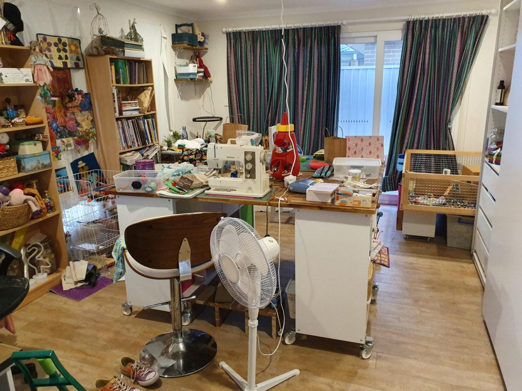 the studio needs a tidy