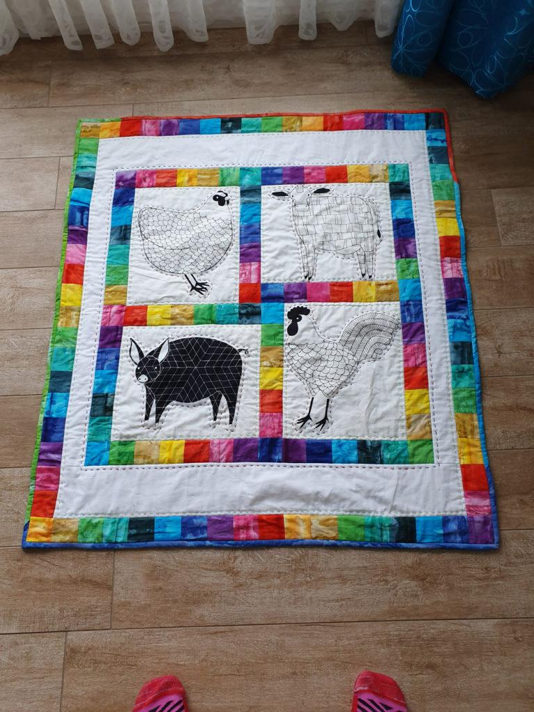 farm fresh baby quilt