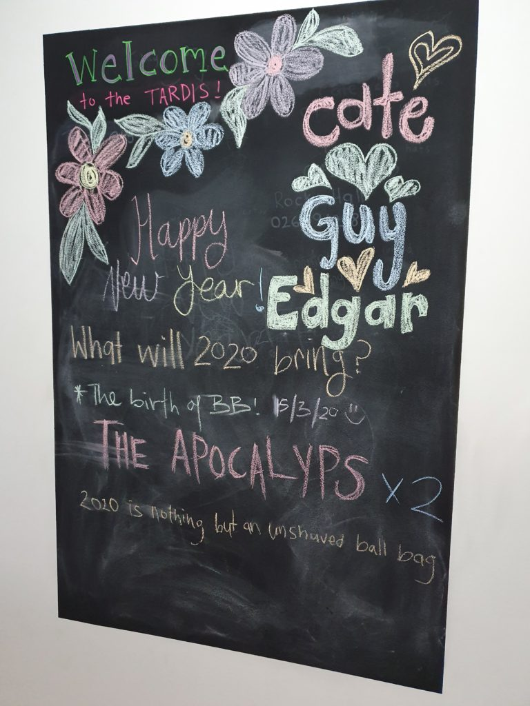 chalk board of 2020