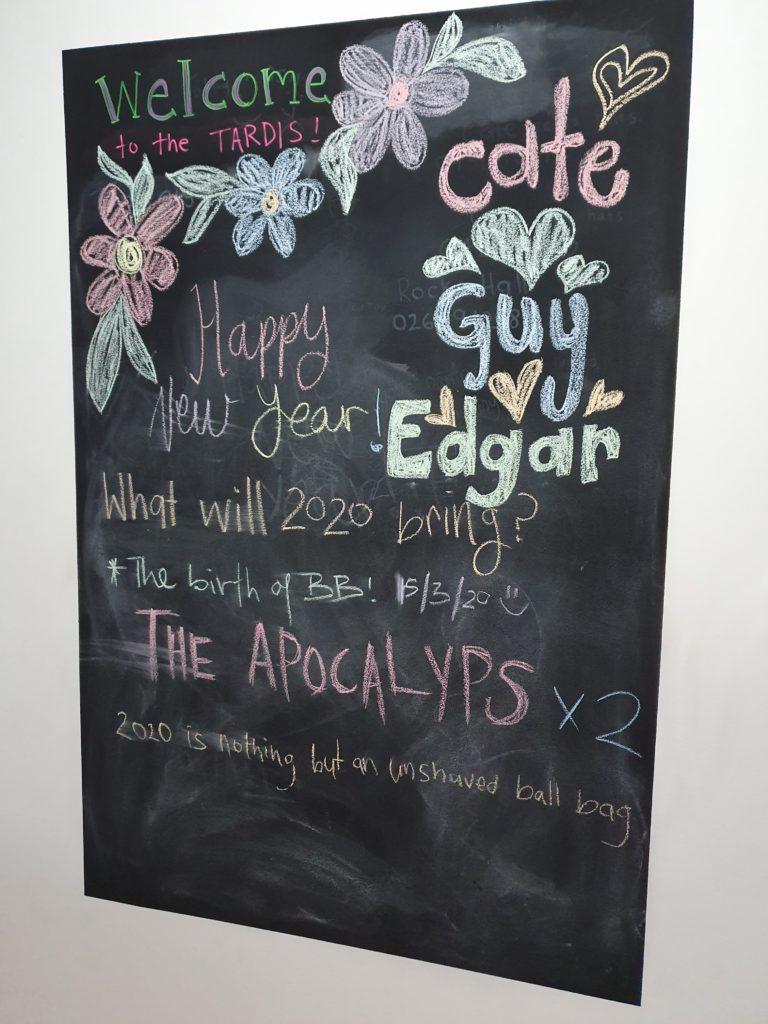 chalk board of 2020